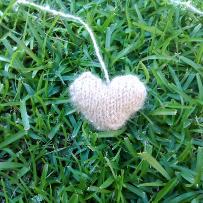 Knit Chiengora Heart